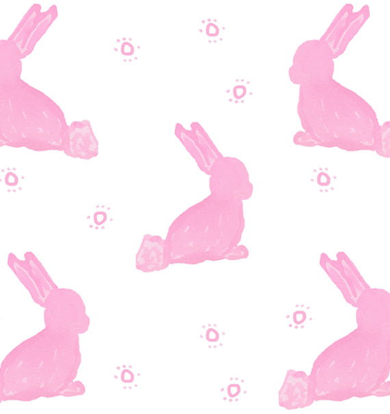 Pink Cottontail Rabbit Print