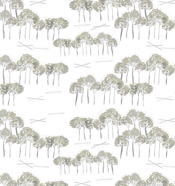 Grayton Trees Tan Print