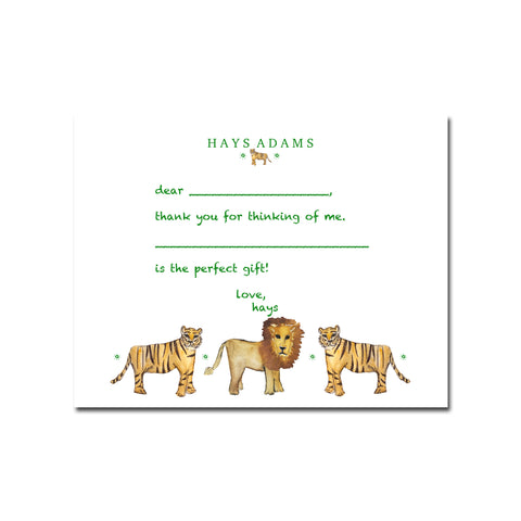 Name Cards // Lions & Tigers