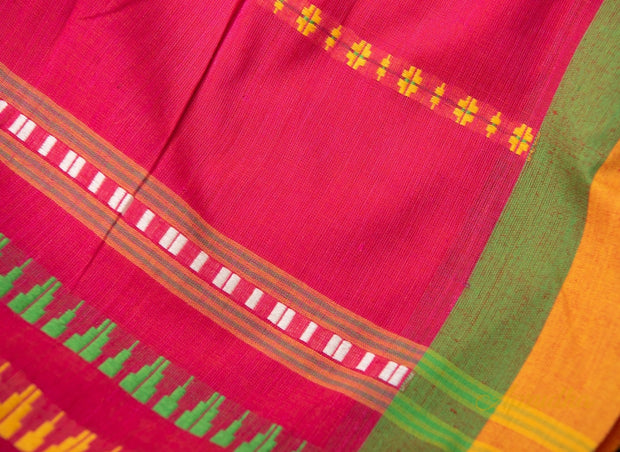 Vibrant Pink Pure Cotton Saree