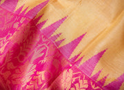 Laguna Yellow Kosa Pattu Saree