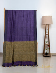 Haze Purple Linen Saree - Aprudha