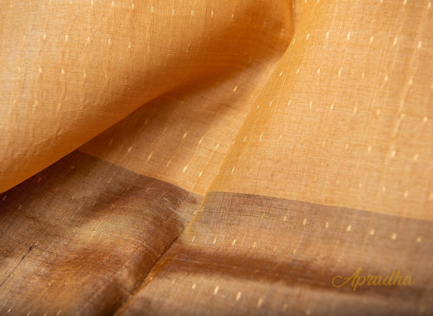 Marguerite Yellow Kosa Pattu Saree