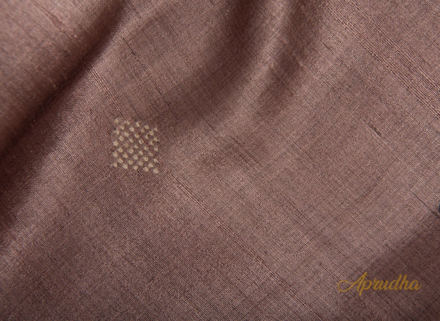 Beaver Brown Silk Saree