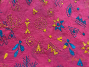 Red Warli Kantha Blouse Piece - Aprudha
