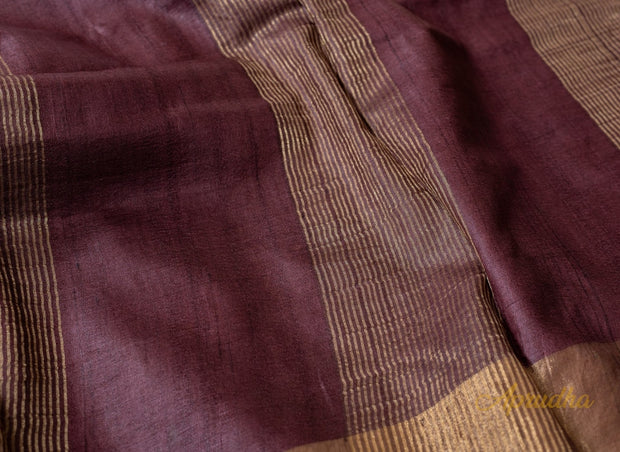 Magenta Purple Kosa Silk Saree - Aprudha