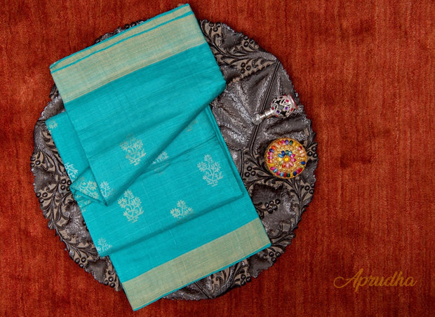 Belize Blue Kosa Pattu Saree