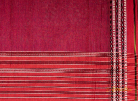 Deep Pink Cotton Saree