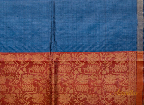 Yale Blue Kosa Pattu Saree