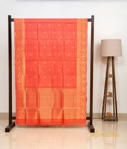 Paprika Orange Kosa Pattu Saree