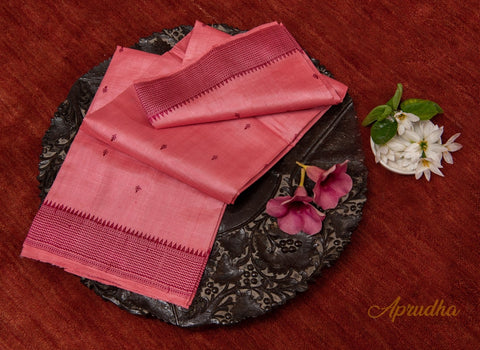Rouge Pink Kosa Pattu Saree