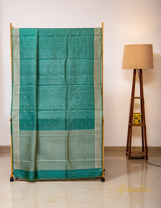 Deep Sea Green Kosa Pattu Saree
