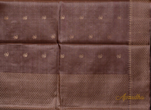 Mocha Brown Kosa Pattu Saree