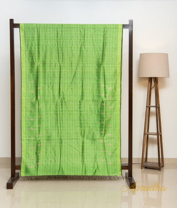 Kelly Green Silk Saree