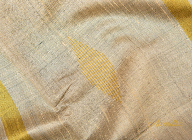 Silverish Grey Silk Saree