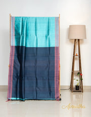 Arctic Blue Silk Saree
