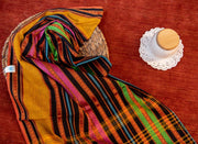 Multi-Coloured Striped Cotton Saree