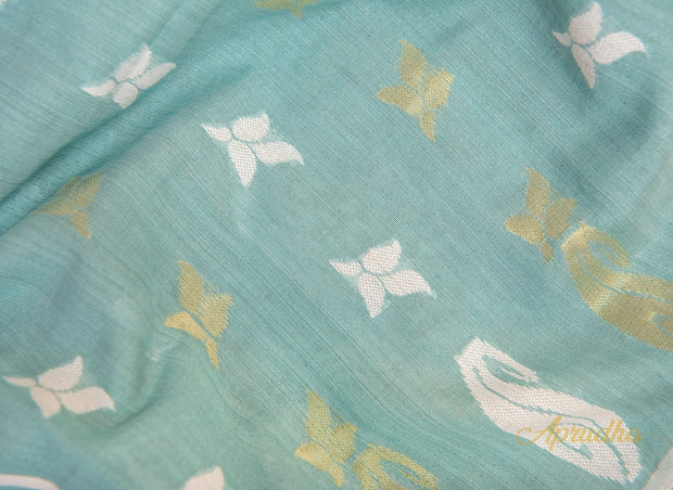 Powder Blue Soft Jamdani Saree