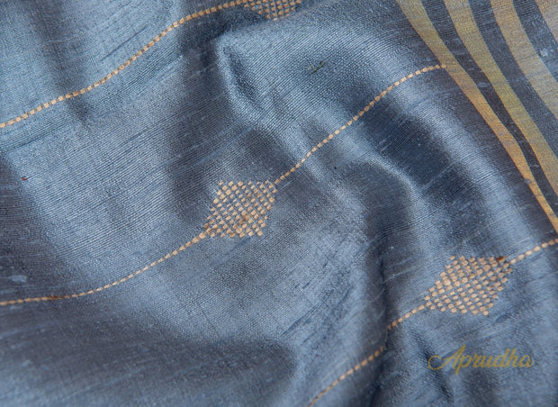 Carolina Blue Silk Saree