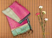 Tiffany Blue Silk Saree - Aprudha