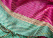 Tiffany Blue Silk Saree