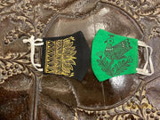 Green & Black - Set Of Two Non Surgical Cotton Madhubani Hand-Painted Mask