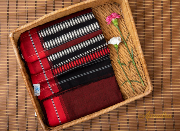 Maroon Pure Cotton Saree