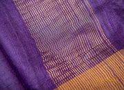 Purple Tussar Silk Saree