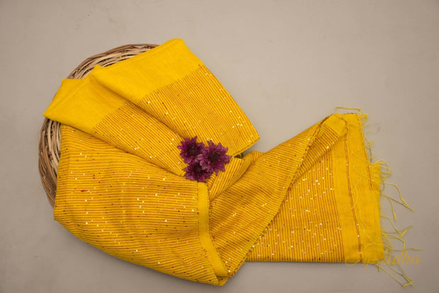 Madder Brown Tussar Silk Saree - Aprudha