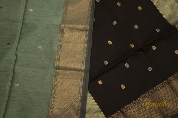 Excalibur Grey Tussar Silk Saree
