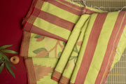 Sugiyaa - Green Pure Cotton Jamdani Saree - Aprudha