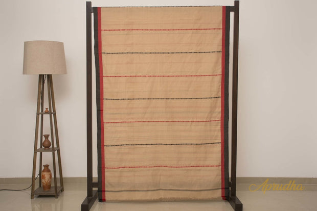 Clay Beige Pure Cotton Saree - Aprudha