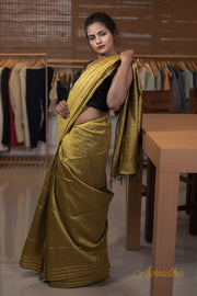 Pantone Golden Silk Saree