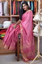 Rose Pink Kosa Silk Saree