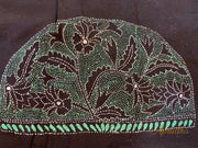 Black & Green Kantha Embroidered Blouse Piece