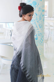White Mul Cotton Saree