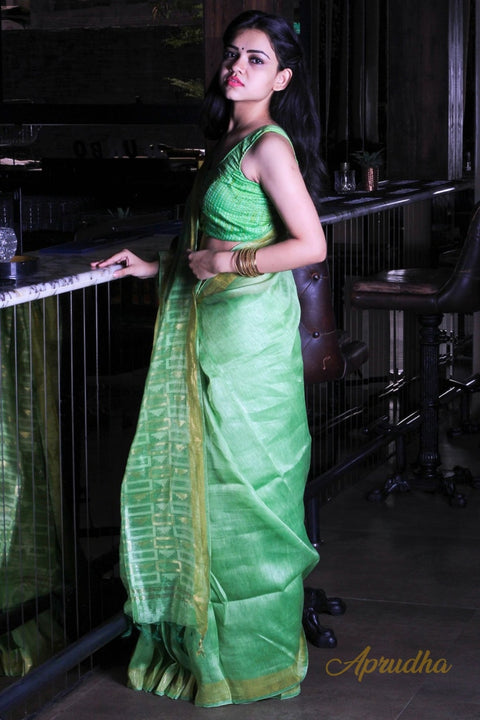 Fern Green Saree