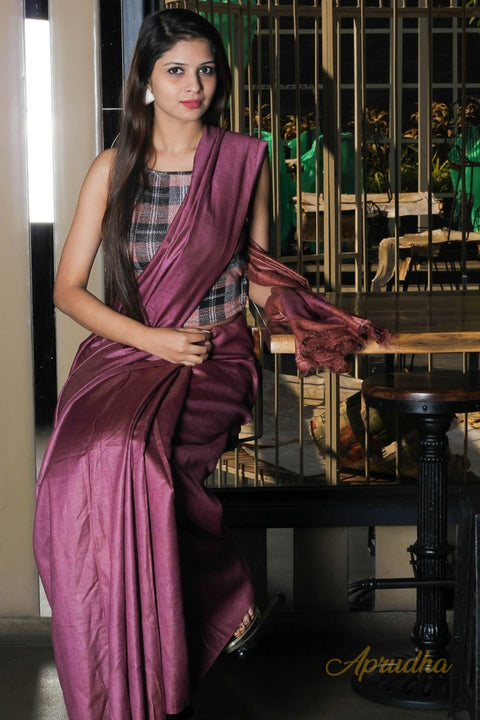 Rosewood Silk Saree