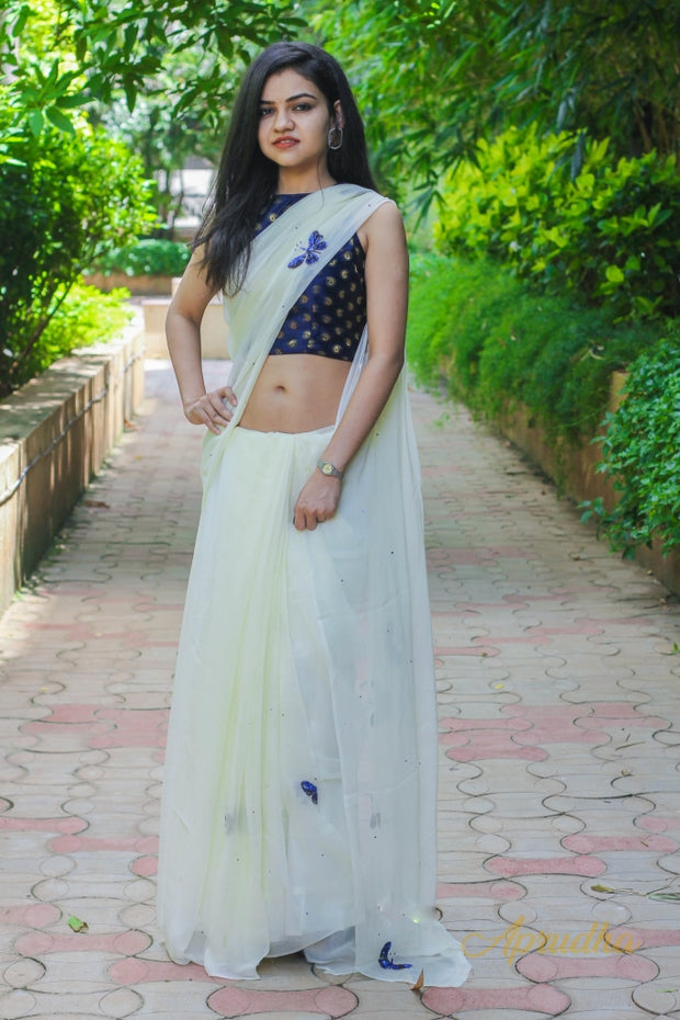 winter Mood Chiffon Saree