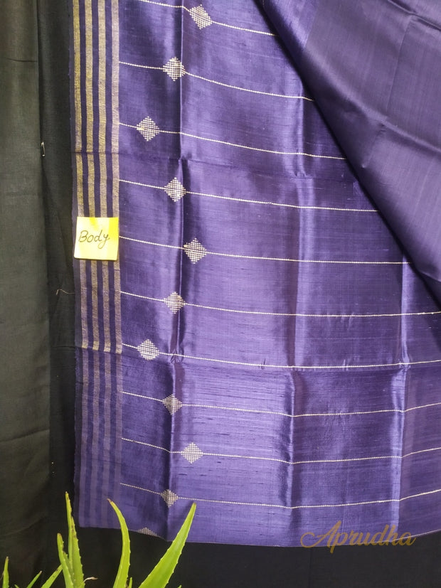 Haze Purple Silk Saree In Metallic Shade