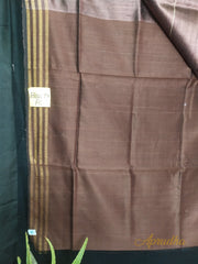 Cherrywood Brown Saree In Metallic Shade