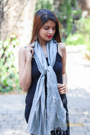 Cloud Grey Linen Stole