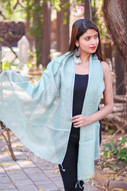 Laurel Green Linen Stole