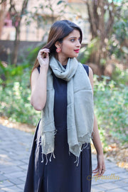 Light grey Linen stole