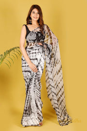 Blackjack Lilly Pure Chiffon Saree