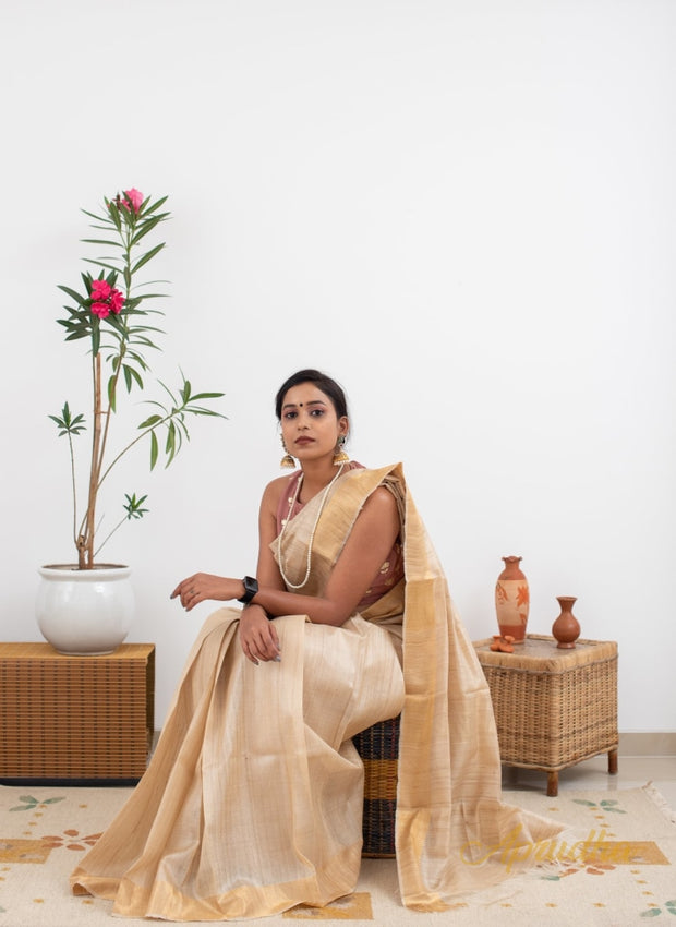 Pure Kosa Silk Saree with Zari - Aprudha