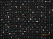 Black Blue Warli Kantha Embroidered Blouse Piece