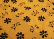 Yellow Flower Kantha Embroidered Blouse Piece