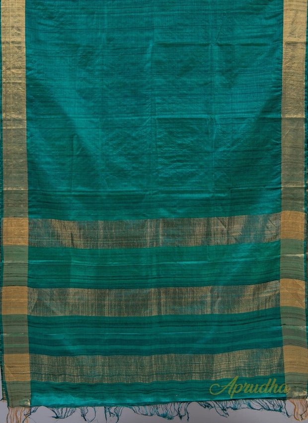 Teal Green Kosa Silk Saree