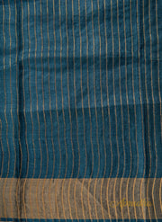 Blue Teal Kosa Silk Saree